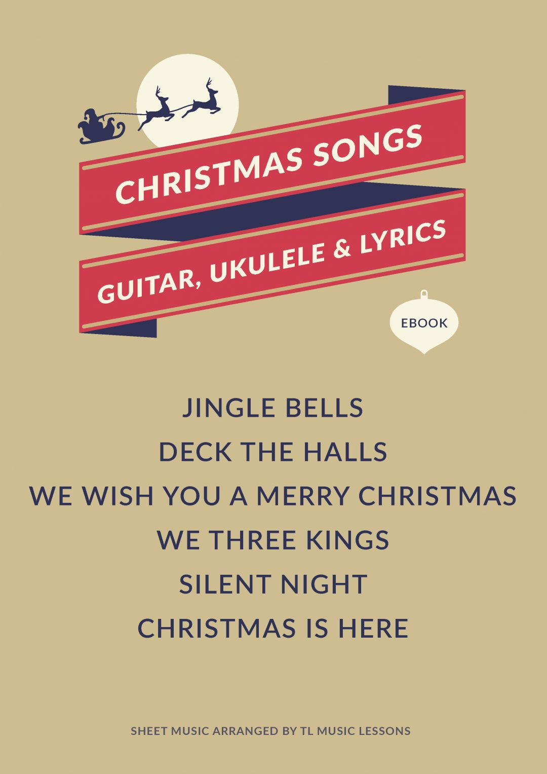 (PREMIUM) – Christmas Songs Ebook – Guitar, Ukulele and Lyrics
