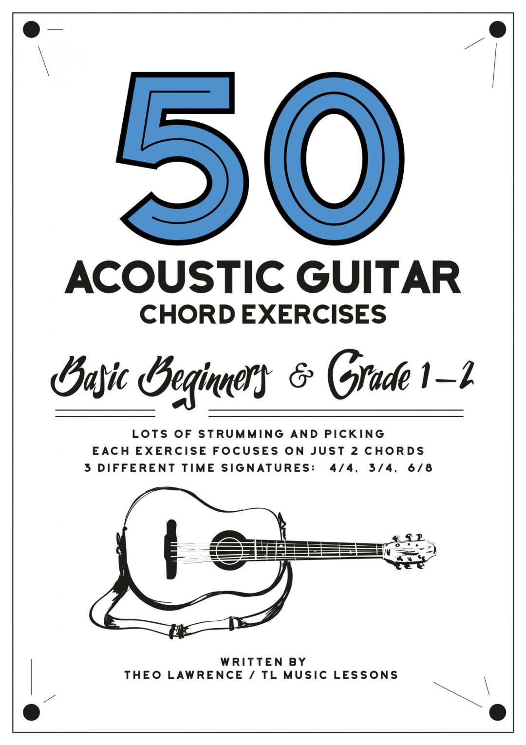 (Premium) – 50 Guitar Chord Exercises ebook – Beginners & Grade 1-2