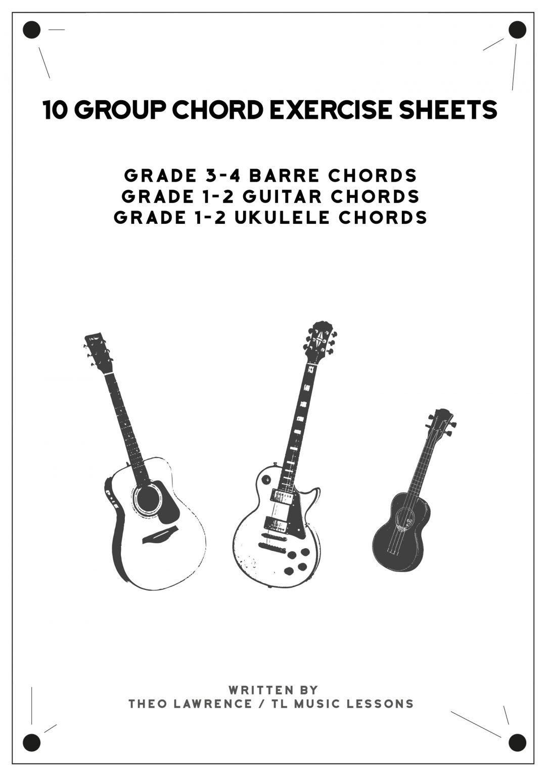 (PREMIUM) – 10 Group Chord Exercise Sheets – 3 Ebooks – Guitar & Ukulele