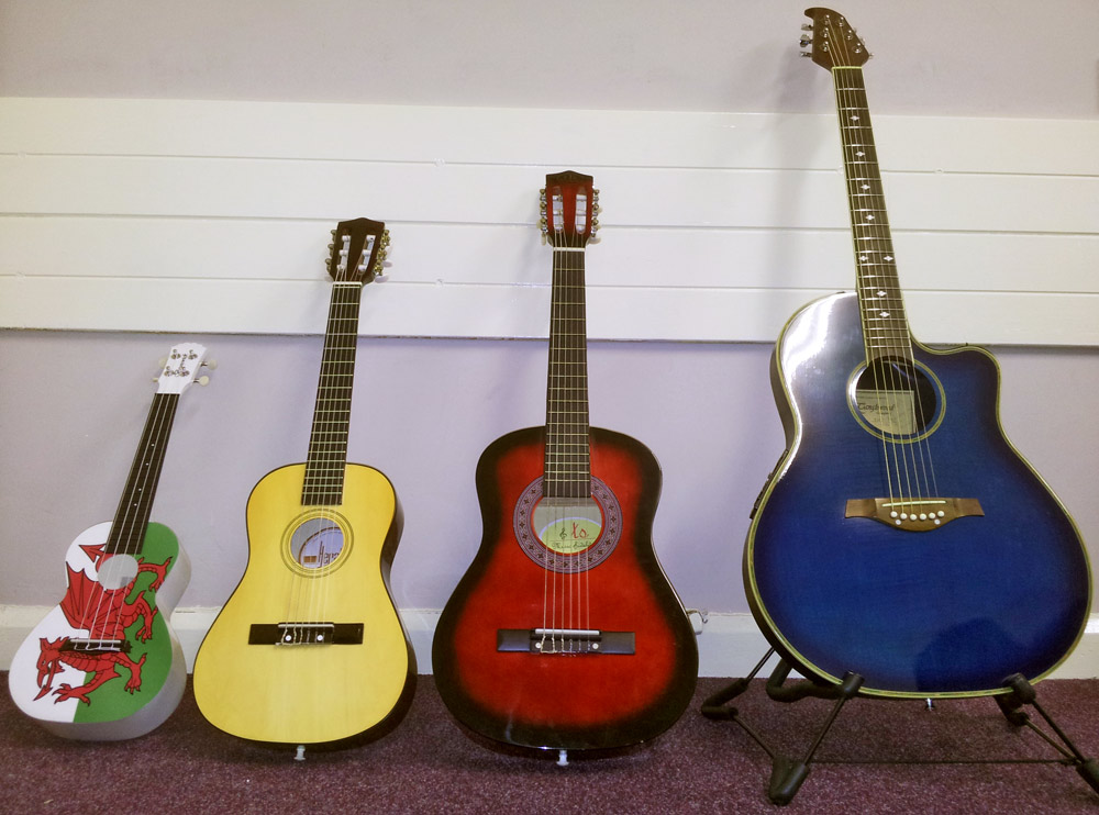 Choosing the right size acoustic guitar or ukulele