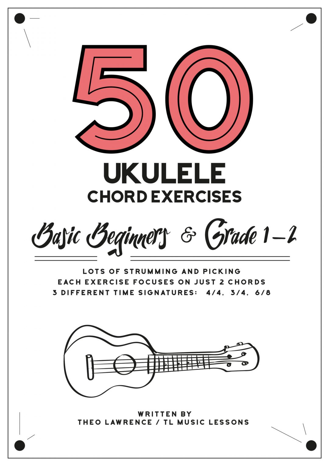 (Premium) – 50 Ukulele Chord Exercises ebook – Beginners & Grade 1-2