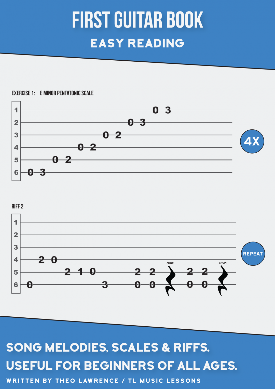 (PREMIUM) – First Guitar Book – Easy Reading Scales, Riffs & Melodies
