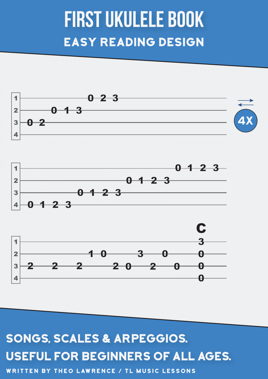 (PREMIUM) – First Ukulele Book – Easy Reading Scales & Melodies