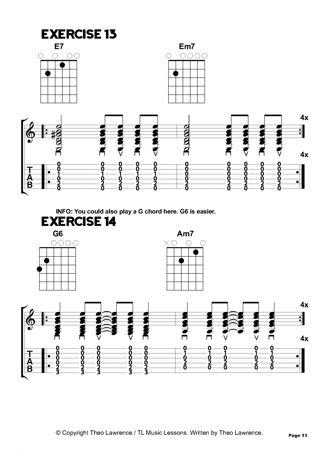 Exercises 13-14 – Inside The Book: 50 Chord Exercises for Beginners