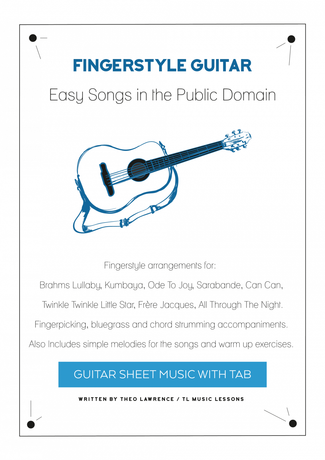 Fingerstyle Guitar – Easy Songs in the Public Domain